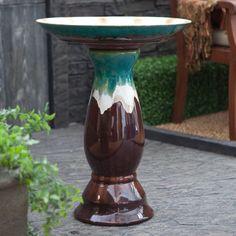Pedestal Ceramic Birdbath