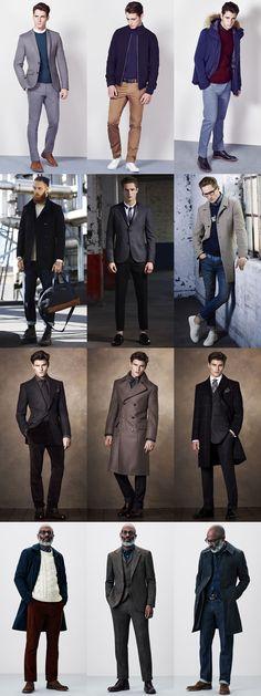 Men's British High Street Retailers AW14 Menswear Lookbook - New Look, Burton, M&S and John Lewis