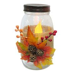 Harvest Mason Jar LED Candle