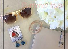 Shop these summer favs | sugar bean bangles, chocolate robin earrings & co-lab clutch #loreleiboutique