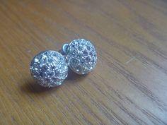 vintage diamante earrings, vintage rhinestone earrings Rhinestone Earrings, Vintage Rhinestone, Vintage Earrings, Stud Earrings, Lilac, Etsy Shop, Crafty, Magpie, Gifts