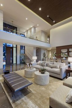 Modern Home Decor Interior Design Modern House Design, Luxury Living Room Design, House Rooms, Home Interior Design, House Styles, Living Design, Home Room Design, Modern Houses Interior, House Interior