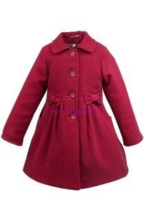 dievčenský kabát AISZA 4 v tmavoružovej farbe