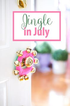 Jingle Bell Door Hanger. Make this cute little jingle bell door hanger to bring in the sound of Christmas to your home this year.  Make it now so you will have it in time for the hoilday season