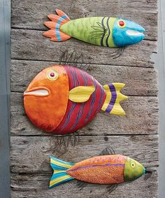 Loving this Fish Wall Art Set on #zulily! #zulilyfinds