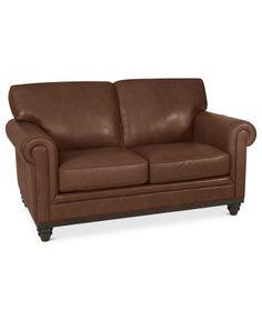 Martha Stewart Collection Bradyn Leather Loveseat