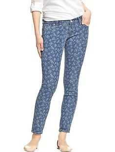 Womens The Rockstar Floral Skinny Jeans
