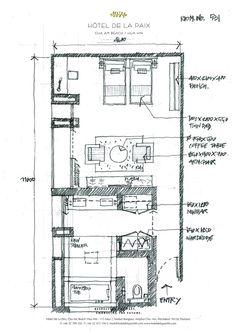 Hotel Room Design, Interior Design Living Room, Room Interior, Apartment Renovation, Apartment Plans, Resort Plan, Hotel Floor Plan, Plan Sketch, Schematic Design