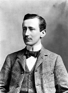 """In Marconi and Karl Ferdinand Braun (Not Depicted) were awarded the Nobel Prize in Physics for """"contributions to the development of wireless telegraphy"""". Nobel Prize In Physics, 1890s Fashion, Leather Bound Books, Academy Of Sciences, Spring Awakening, Inventors, European History, Deconstruction, Engineers"""