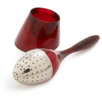 classy ruby red tea infuser