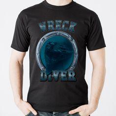 SCUBA DIVING SHIRT Wreck diver #underwater #diving #scuba #scubadiving #afterdive #tshirt #octopus #diver #scubadiver #padi #cmas #host #deep #deepth #godive #wreck