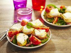Salade de chèvre chaud aux allumettes