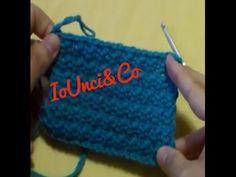 Uncinetto, crochet - Punto canestro - YouTube