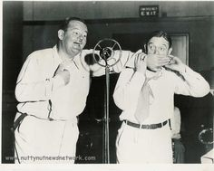 Laurel and Hardy on radio in the early 1930's.