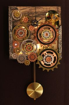 steampunk decor | There's even a little Want2Scrap bling decorating the wall of the ...