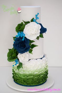 Ruffles and roses cake by The Cupcake Lady