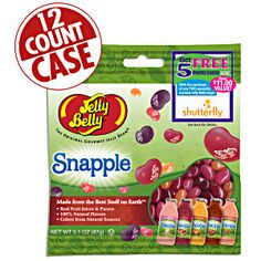Jelly Belly Snapple Mix jelly beans in 3.1 oz bags. Five 100% natural flavors based on Snapple juice drinks. Convenient size bag! Fruity