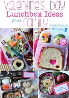 Valentine's Day Lunch box Ideas for the family - http://FamilyFreshMeals.com