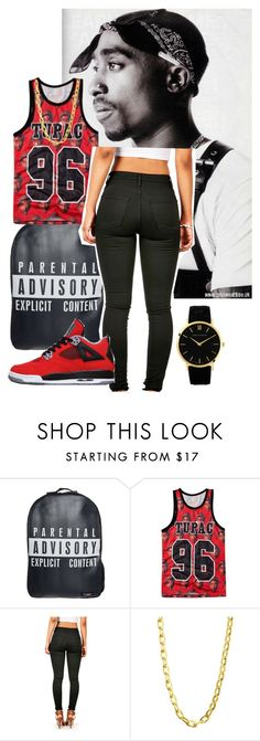 """""""R.I.P TUPAC <3"""" by liveitup-167 ❤ liked on Polyvore featuring Urban Junk, Luv Aj and Larsson & Jennings"""