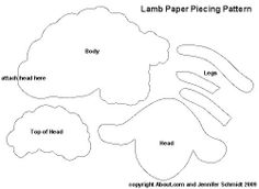 Printable English Paper Piecing Templates | Easter and Spring Paper Piecing Patterns for Scrapbookers - Lamb ...