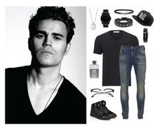 """Paul Wesley"" by seniora ❤ liked on Polyvore featuring Movado, Valentino, Giorgio Armani, Versace, Scotch & Soda, Persol, Prada, Gucci, men's fashion and menswear"