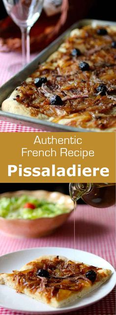 Pissaladiere a flatbread from the South of France is a great recipe idea for t 196 International Vegetarian Recipes Irish Desserts, Desserts Français, French Desserts, Irish Recipes, Italian Recipes, Vegetarian French Recipes, Plated Desserts, Healthy Recipes, Gourmet