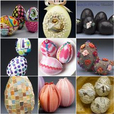 Easter Eggstravaganza: All sorts of ways to make cute & easy Easter eggs.