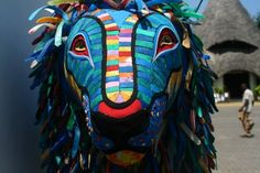 """""""The Pride of Kenya Lion"""" by Andrew McNaughton (Kenya). The Lion is made from recycled sandals collected from the beach in Watamu, Kenya."""