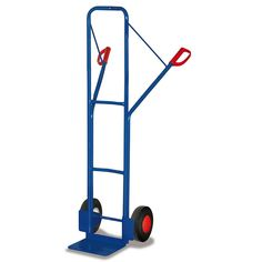 GTARDO.DE:  Stahlrohrkarre, Tragkraft 250 kg, Maße 551 x 521 x 1600 mm, Schaufel 300 x 250 mm, Rad 250 x 60 mm, Höhe 1600 mm 156,00 €