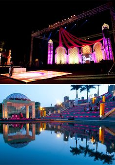 Real Indian Wedding - Awesome wedding Venue,Photography by Avantika Meattle<br> Pool Wedding, Wedding Stage, Miami Wedding, Dream Wedding, Indian Wedding Planner, Destination Wedding, Wedding Venues, Wedding Planning, Wedding Decor