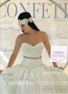 Confeti magazine Malaga Airport, Vera Wang, Red Carpet, Interview, Entertaining, Couture, Retro, Wedding Dresses, Vintage