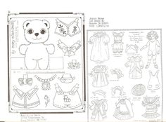 OPDAG November 1991 ALL ART Issue!  No limits on the theme  Fun match-up art with outfits  All black and white  Not all pages of Issue are shown | Mary Ellen Smith and Jessie Paul Brown see NAMELESS BEAR by Mary Ellen Smith in Paper Dolls Animals