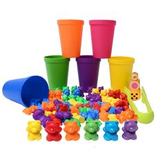 Likary Sorting/Counting Bears with 60 Rainbow Colored Bears, 9 Stacking Cups, 3 Dices, Kids Tweezers and Storage Bag.Quality Montessori Matching Game, Educational Toys and Color Sorting Toys for Kids * You can find more details by visiting the image link. (This is an affiliate link)