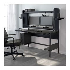 IKEA furniture and home accessories are practical, well designed and affordable. Here you can find your local IKEA website and more about the IKEA business idea. Ikea Gaming Desk, Ikea Workstation, Gaming Desk Black, Computer Desk With Hutch, Gaming Room Setup, Ikea Desk, Computer Desks, Black Desk, Pc Desks