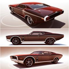 Retro-futuristic concepts by 600v - Car Body Design