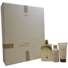 Voyage D'Hermes by Hermes for Unisex - 3 Pc Gift Set 3.3oz EDT Spray (Refillable), 1oz Perfumed Body Lotion, 1oz Shower Gel (1)