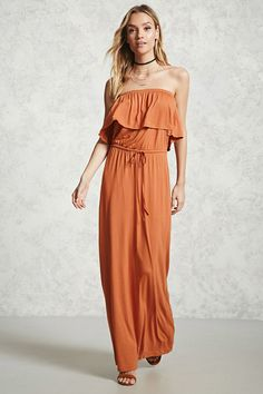 FOREVER 21+ Contemporary Flounce Maxi Dress