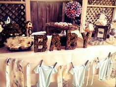 Great baby shower party! #babyshower #birds