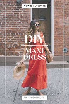 Sewing Dresses diy-maxi-dress - How to make a DIY Maxi Dress in under half an hour. Kimono Fashion, Diy Fashion, Fashion Outfits, Fashion Top, Fashion Ideas, Diy Clothing, Sewing Clothes, Barbie Clothes, Do It Yourself Mode