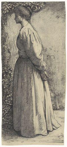 Richard Roland Holst | Staande vrouw, van opzij, Richard Roland Holst, 1878 - 1938 |