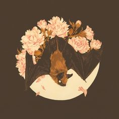 Teagan White — Small bat friend painting for my show with Nicolas. Kunst Inspo, Art Inspo, Art And Illustration, Drawn Art, Guache, Art Graphique, Art Reference, Amazing Art, Cool Art