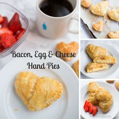 Bacon, Egg and Cheese puff pastry Hand Pies for breakfast. Simple to make and fun to prepare with your little kitchen helper.  Bake with your kids today!