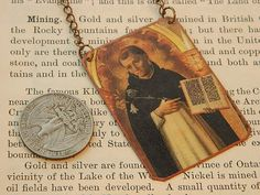 Saint Jewelry Saint Necklace Saint Dominic by SarahWoodJewelry