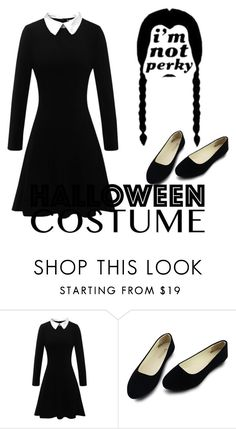 """""""Wednesday Addams costume"""" by introit ❤ liked on Polyvore featuring halloweencostume and DIYHalloween"""