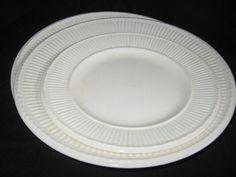 Wedgwood Edme Barlaston 1950's-60's Off White Plates #WedgwoodEdme