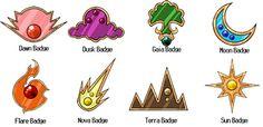 Region Gym Badges by TheForbiddenFox