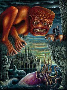sea monster scene -Robert Steven Connett-