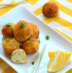 Cod Cakes (tender inside and crunchy outside): A great way to make kids eat fish plus a yummy starter for the upcoming Super Bowl...