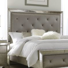 Any bedroom can use some decorations. Here is some master bedroom decor ideas to help you make your living space more cheerful and stylish. Silver Furniture, White Bedroom Furniture, Bed Furniture, Home Decor Bedroom, Furniture Stores, Furniture Online, Walnut Bedroom, Mission Furniture, Furniture Websites