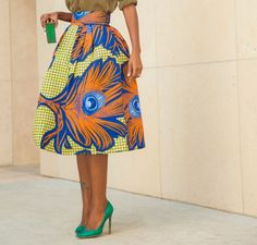Aso Ebi style: Beautiful Ankara Midi Skirt Style http://maboplus.com/aso-ebi-style-beautiful-ankara-midi-skirt-style/
